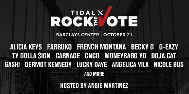 Tidal X: Alicia Keys, Farruko, French Montana & Becky G at Barclays Center